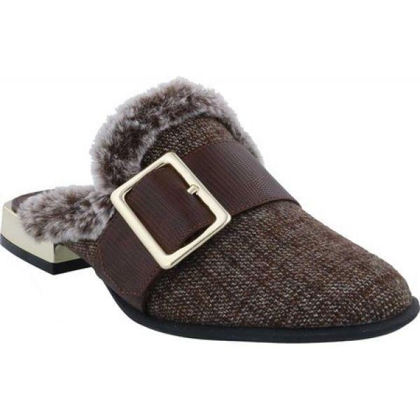 【現品限り一斉値下げ!】 ベリーニ Bellini レディース サンダル・ミュール シューズ・靴 Byfar Mule Brown Houndstooth Fabric/Faux Fur, 名入れギフトと表札 アトリエkana 147cf71c