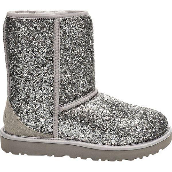 【2019春夏新色】 アグ UGG レディース ブーツ シューズ・靴 Classic Short Cosmos Mid Calf Boot Silver Chunky Glitter, トウーレイトスポーツオンライン 0ee779fd