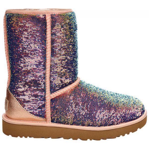 【開店記念セール!】 アグ UGG レディース ブーツ シューズ・靴 Classic Short Cosmos Sequin Boot Quartz Metallic Sequins, カミキタヤマムラ e4ae98ff