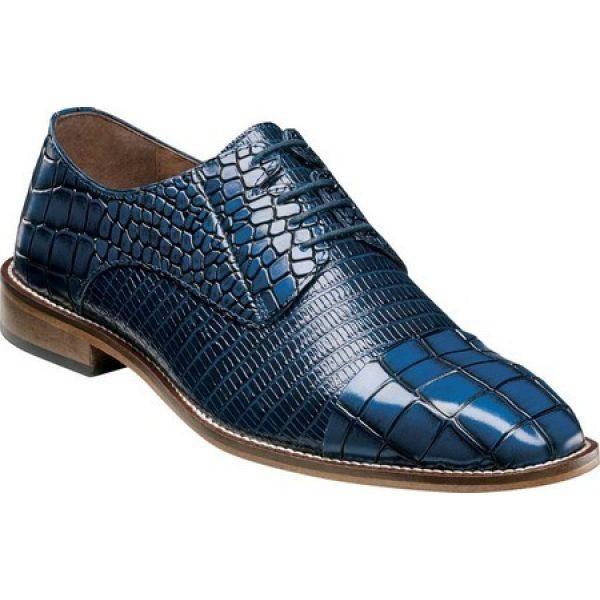 通販 ステイシー アダムス Stacy Adams メンズ 革靴・ビジネスシューズ シューズ・靴 Talarico Cap Toe Oxford Blue Croco/Lizard Print, TEOMARINA 5a6bc19d