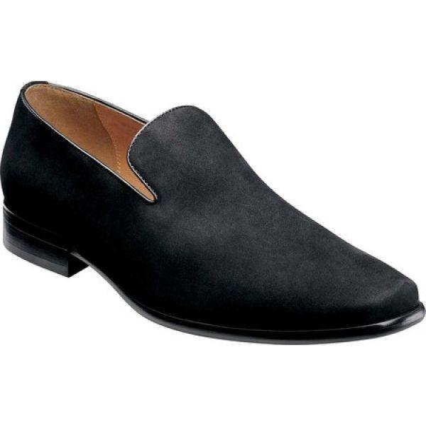 【2018秋冬新作】 フローシャイム Florsheim メンズ スリッポン・フラット シューズ・靴 Postino Plain Toe Slip On Black Nubuck Leather, e-Butudan/現代仏壇お香数珠 414bd1af