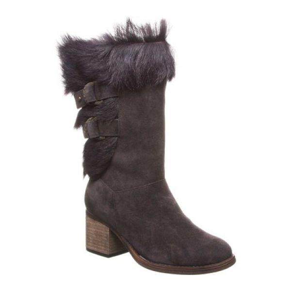 (お得な特別割引価格) ベアパウ Bearpaw Boot レディース ブーツ Bearpaw シューズ Calf・靴 Madeline Mid Calf Boot Chocolate/Goat Fur, CQオーム:c2aba147 --- buergerverein-machern-mitte.de