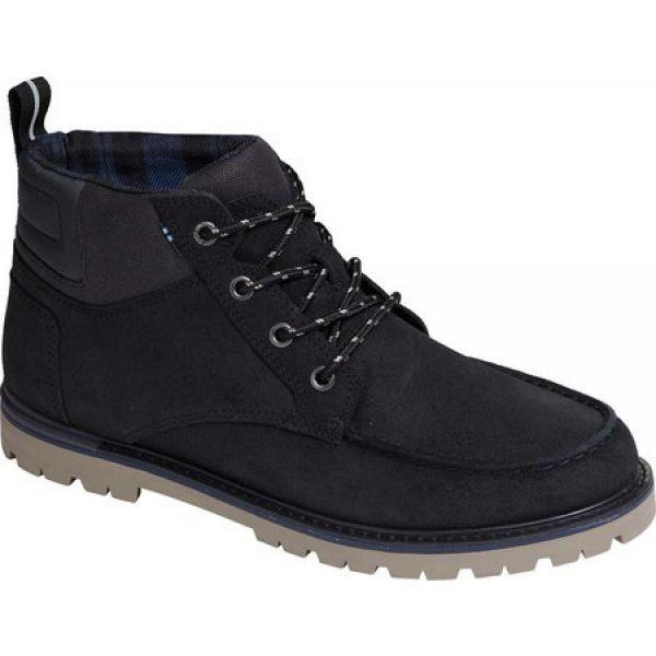 最安値 Suede メンズ Boot Waxy シューズ・靴 ブーツ Hawthorne トムス TOMS Ankle Black ショートブーツ-靴・シューズ
