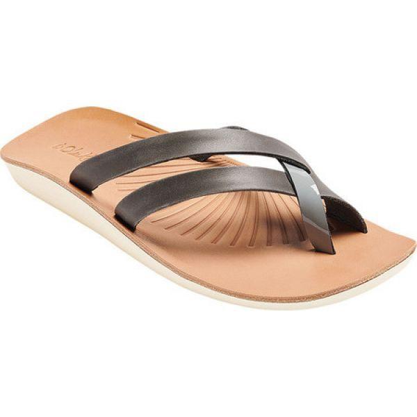 開店祝い オルカイ OluKai レディース サンダル・ミュール シューズ・靴 Kaha Toe Loop Sandal Charcoal/Poi, 天城町 ebdc12ff