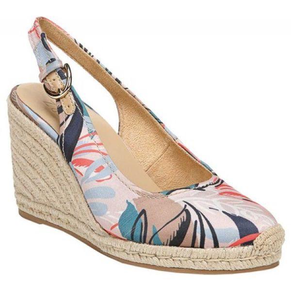 2019激安通販 Pearl Print Naturalizer シューズ・靴 エスパドリーユ ウェッジソール レディース Safari Slingback ナチュラライザー Espadrille Wedge-靴・シューズ