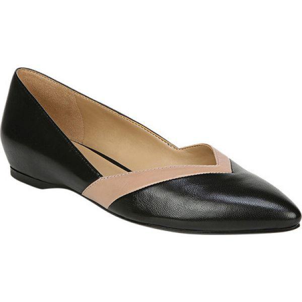 最安 ナチュラライザー スリッポン・フラット レディース Black/Nude Flat Naturalizer Sandara シューズ・靴-靴・シューズ