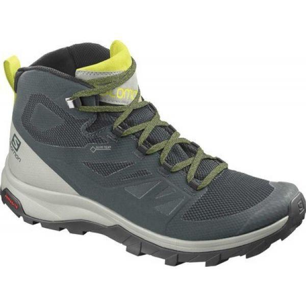 最新のデザイン サロモン Salomon メンズ ハイキング・登山 ブーツ シューズ・靴 Outline Mid GORE-TEX Hiking Boot Green Gables/Mineral Gray/Evening, SANKEN 42a0b90c