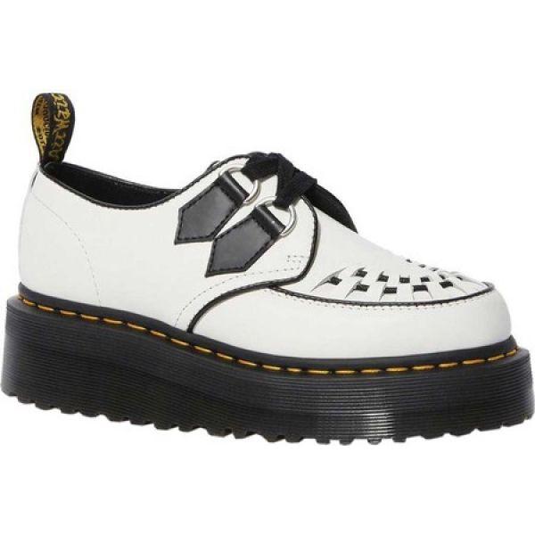 【即納!最大半額!】 ドクターマーチン Dr. Martens レディース ランニング・ウォーキング シューズ・靴 Sidney Platform Creeper White/Black Polished Smoot, アクセサリークイールキャラメリゼ 8a130896