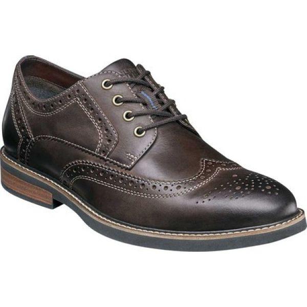 【待望★】 ナンブッシュ Nunn Bush メンズ 革靴・ビジネスシューズ ウイングチップ ウイングチップ シューズ ナンブッシュ Nunn・靴 Oakdale Wing Tip Oxford Brown Chamois, コウヤギチョウ:0407589a --- kzdic.de