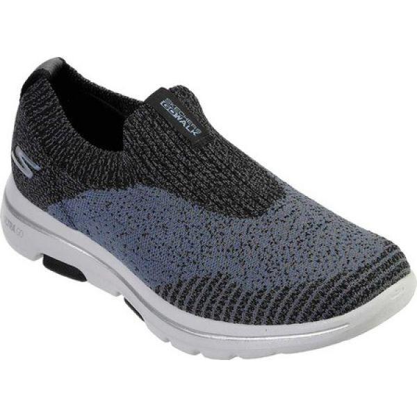 【サイズ交換OK】 スケッチャーズ Skechers メンズ スリッポン・フラット シューズ・靴 GOwalk 5 Merritt Slip-On Black/Blue, カヅノシ f13005d9