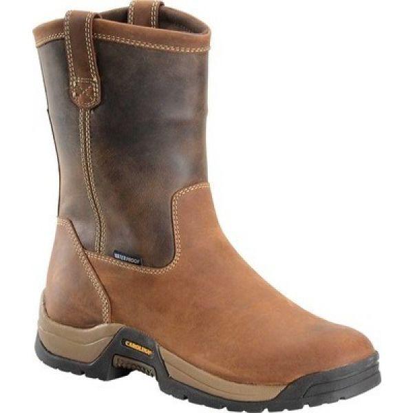 【超ポイントバック祭】 Ranch 10 CA9105 シューズ・靴 Leather カロリナ 4x4 メンズ ウェリントンブーツ Wellington Brown Dark Carolina-靴・シューズ