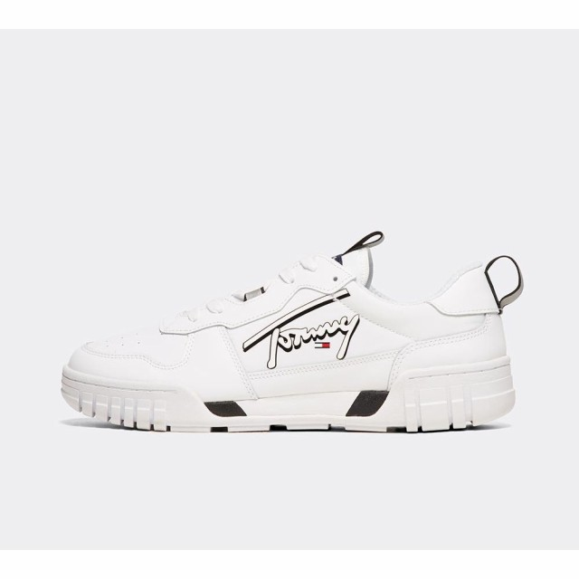 【WEB限定】 トミー ヒルフィガー Tommy Hilfiger メンズ スニーカー シューズ・靴 trainer signature signature トミー trainer White/White, WEB SAILING:446257ea --- standleitung-vdsl-feste-ip.de