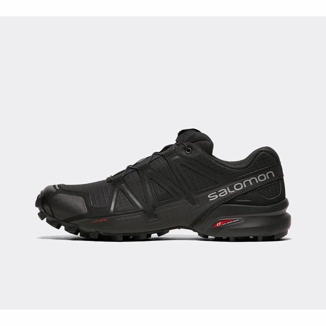 最新作 4 shoe speedcross trail Salomon Black/Black/Metallic メンズ サロモン シューズ・靴-靴・シューズ