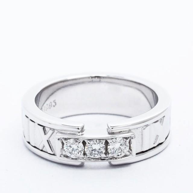 最高の 【新品仕上げ済み】ティファニー 3Pダイヤモンド アトラスリング 18金ホワイトゴールド 7号 アトラスリング 3Pダイヤモンド【指輪】【】, 脇町:c1a0351c --- wife.kollima.de