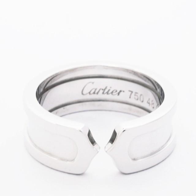 【メーカー直送】 C2 2C ロゴリング 18金ホワイトゴールド ドゥーブルC 48【指輪】【】 【新品仕上げ済み】カルティエ-指輪・リング