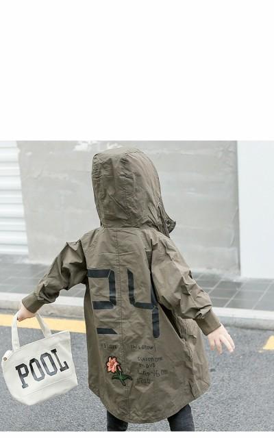 a9950322e8eae 子供服 コート アウター キッズ ベビー 男の子 ロングコート ジャケット 春秋 長袖 おしゃれブルゾン ウインドブレーカー
