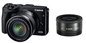人気定番 (品)Canon ミラーレス一眼カメラ EOS M3 ダブルレンズキット(ブラック) EF-M18-, スノマタチョウ 37a0500c