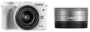 激安価格の (品)Canon ミラーレス一眼カメラ EOS M3 ダブルレンズキット(ホワイト) EF-M15-, 未来ネットワーク d27048ac