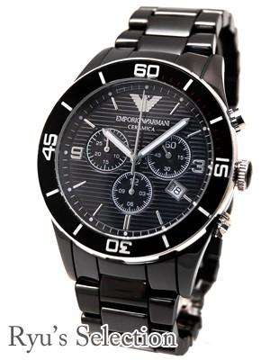 【クーポン対象外】 メンズ エンポリオアルマーニ クロノグラフ セラミック(AR1421) 腕時計-その他腕時計