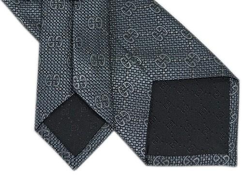 d815e82150b2 グッチ アウトレット ネクタイ 408865-1263 GUCCI メンズ ジャガード デザイン GGパターン+ドット シルク スチール