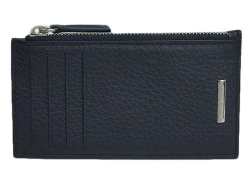 第一ネット ゼニア コインケース エルメネジルド・ゼニア メンズ カードケース SVロゴプレート 型押しカーフ ブラック 29506 アウトレット, オールドギア箕面店:8aff608b --- kzdic.de