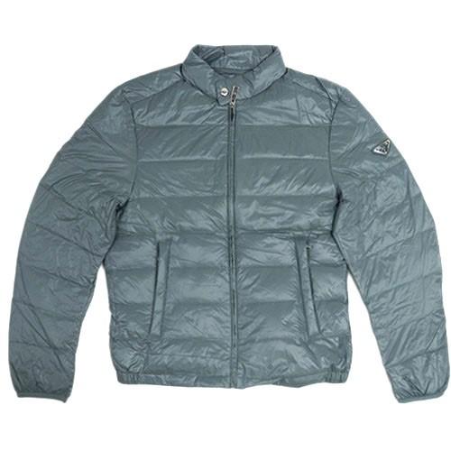 人気を誇る プラダ ダウンジャケット SGA462 PRADA メンズ ジップアップ ポーチ付き ナイロン ACCIAIO ブルーグレー 50サイズ アウトレット, カワグチシ b3fd5e59