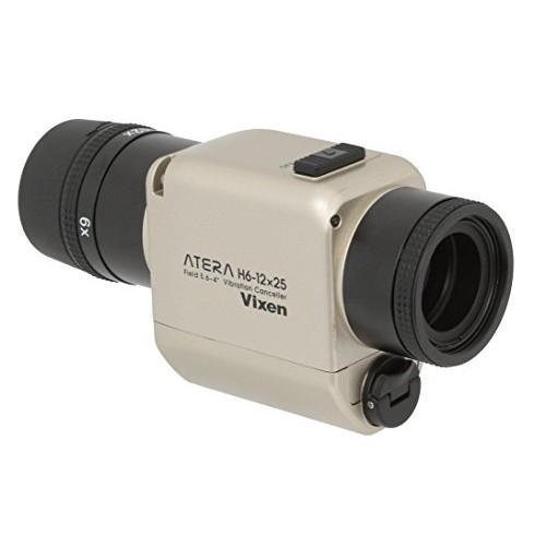 超美品 シャンパンゴールド ATERA 単眼鏡 11492-4 防振単眼鏡 Vixen H6-12×25-カメラ