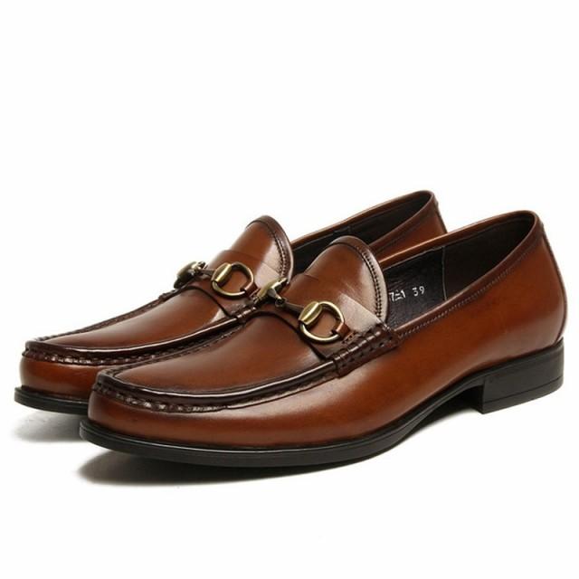 c03f60e56a1680 革靴 メンズ スリッポン ビットローファー ビジネスシューズ 本革 レザー おしゃれ 紳士靴 滑りとめ ペニー