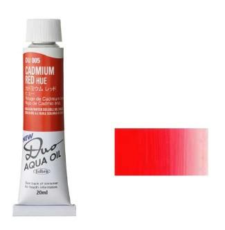 ホルベイン 油絵具6号 アクアオイルカラー デュオ(DUO) カドミウムレッド ヒュー DU005 20ml