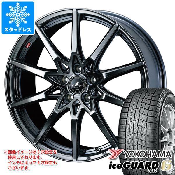 ー品販売  スタッドレスタイヤ ヨコハマ アイスガードシックス iG60 225/65R17 102Q & レオニス SV BMC1 7.0-17 タイヤホイール4本セット 225/65-1, OHMURA I&E 2cc3a906