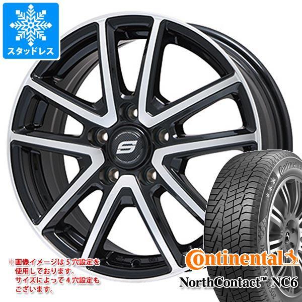 ファッション スタッドレスタイヤ コンチネンタル ノースコンタクト NC6 185/65R15 92T XL & ホライズン ブラックポリッシュ タイヤホイール4本セット, SWAPMEET 769c79cb
