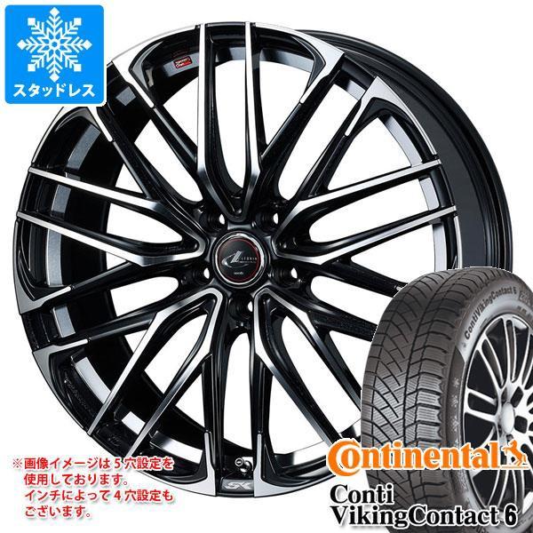 贈り物 スタッドレスタイヤ コンチネンタル コンチバイキングコンタクト6 225/55R16 99T XL & レオニス SK PBミラーカット 6.5-16 タイヤホイー, キッズスマイルショップROBE a4dad955