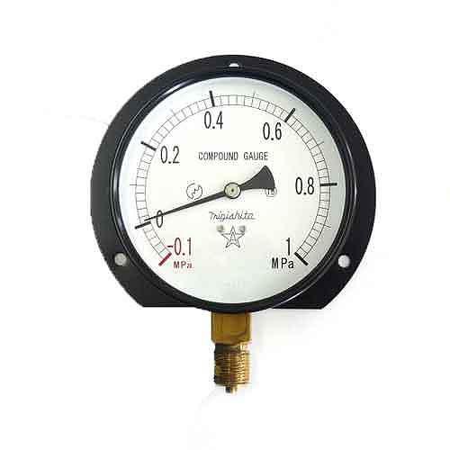 右下精器・汎用圧力計B100・G3/8・S42・+1X−0.1MPA・電動工具・エアーツール・圧力計・機器・DIYツールの画像