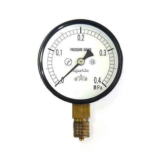 右下精器・汎用圧力計A75・G3/8・S−31・0.4MPA・電動工具・エアーツール・圧力計・機器・DIYツールの画像