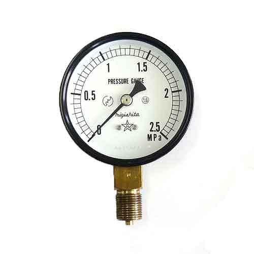 右下精器・汎用圧力計A75・G3/8・S−31・2.5MPA・電動工具・エアーツール・圧力計・機器・DIYツールの画像