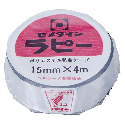 セメダイン・ラピー銀15×4・TP−262・梱包・安全・補修用品・梱包・テープ・DIYツールの画像