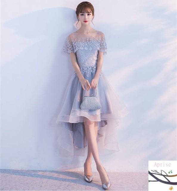 fb3ea7b07fe1b パーティードレス 結婚式 ドレス ウェディングドレス 卒業式 成人式 膝丈 ドレス Aライン