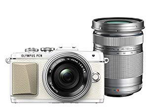 【メーカー直売】 ホワイト E-PL7 OLYMPUS E-PL7 EZダブルズームキット (品) ミラーレス一眼 PEN-カメラ