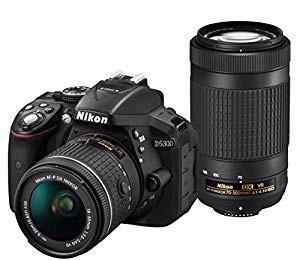 おすすめネット デジタル一眼レフカメラ D5(品) D5300 Nikon ブラック AF-P ダブルズームキット-カメラ
