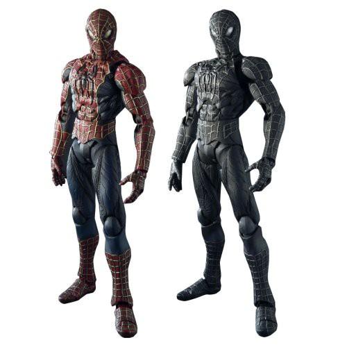 高価値 MOVIE REALIZATION スパイダーマン&ブラックスパイダーマン(未使用の新古品), 黒船グループ 46994952