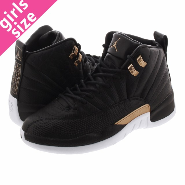 正規店仕入れの RETRO JORDAN 12 WMNS GOLD/WHITE NIKE AIR BLACK/METALLIC-靴・シューズ