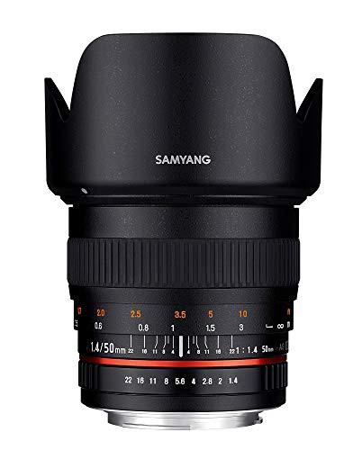 新着商品 単焦点標準レンズ 50mm F1.4 キヤノン フルサイズ対応(品) EF用 SAMYANG-カメラ