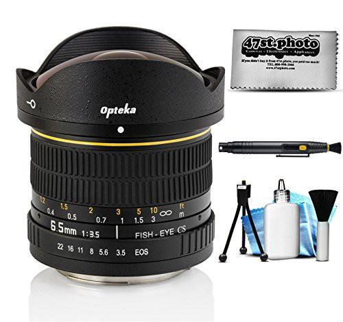 素晴らしい Aspherical魚眼レンズレンズfor Canon 6.5mm EOS 80d、7(未使用品) 3.5?HD F / Opteka-カメラ
