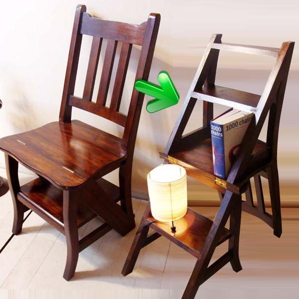 アジアン家具 引っ越し チーク ラダーステップチェア 踏み台 椅子