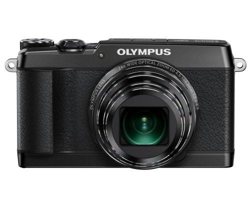 【美品】 光学24(品) デジタルカメラ STYLUS 光学式5軸手ぶれ補正 SH-1 OLYMPUS ブラック-カメラ