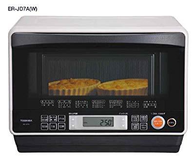 春夏新作 TOSHIBA 石窯ドーム  オーブンレンジ26L グレイッシュホワイト ER-JD7(品), 川西市 635f940b