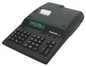 正規品販売! MONROE (モンロー) MNE8130B(品) 12桁プリント/ディスプレイ 8130 ブラック-オフィス家電・電子文具
