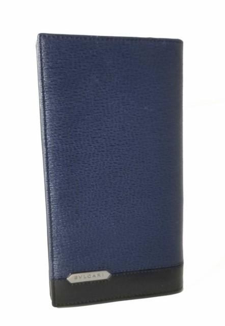 超安い ブルガリ 長財布 メンズ 財布 ネイビー ブラック バイカラー レザー 黒 BVLGARI セルペンティ スカリエ マン, インテリア雑貨 jam store 827a0afb