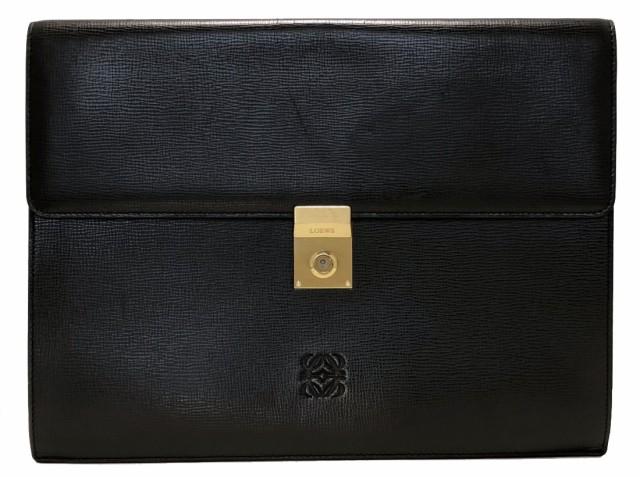 100%安い ロエベ ドキュメントケース A4 型押し 書類ケース ブリーフケース ブラック 黒 型押し A4 レザー 黒 本革, 特注看板屋:398f697e --- paderborner-film-club.de