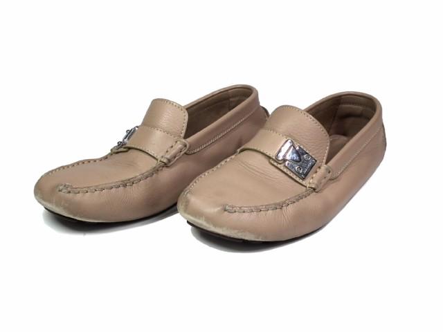 ルイヴィトン メンズ シューズ ローファー ドライビングシューズ 靴 レザー ベージュ ロゴ金具 5 1/2 約25cm LV ビトン|au  Wowma!(ワウマ)